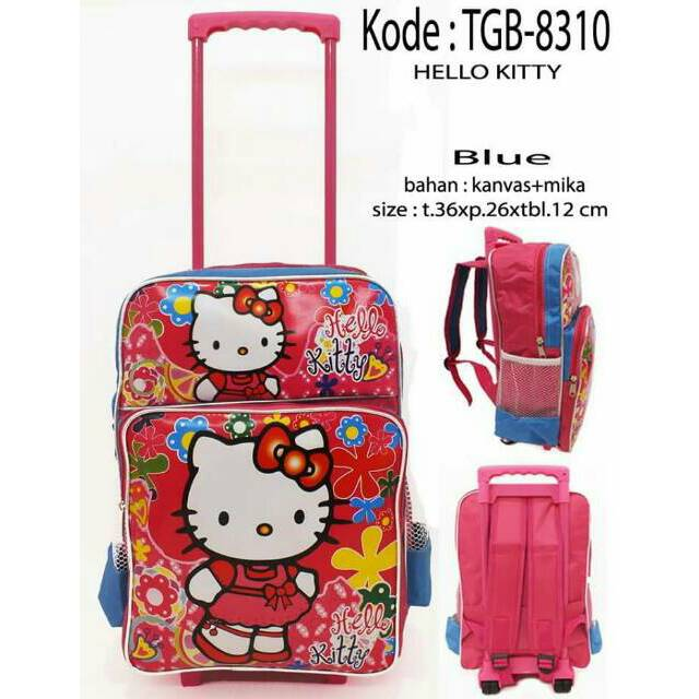 Hello Kitty Set Lunch Bag Anak Bahan Sponge Tahan Air – Pink.