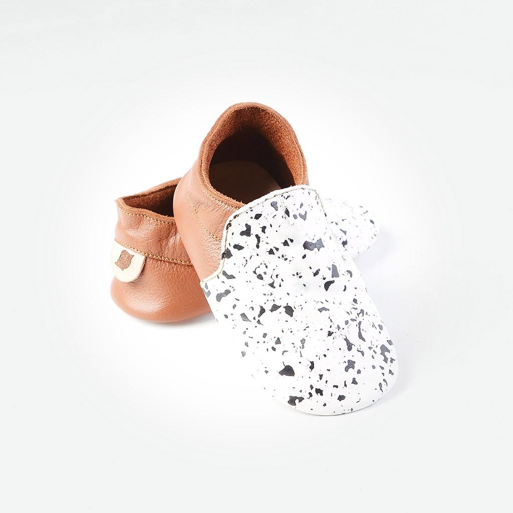 1e19bd895fb Baby Loafers - Choco White Splash (Sepatu Bayi PYOPP)