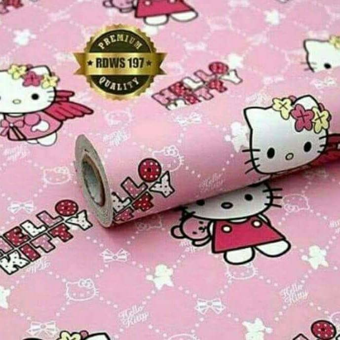 Wallpaper Dinding Sticker Hello Kitty 45 Cmx 10 M