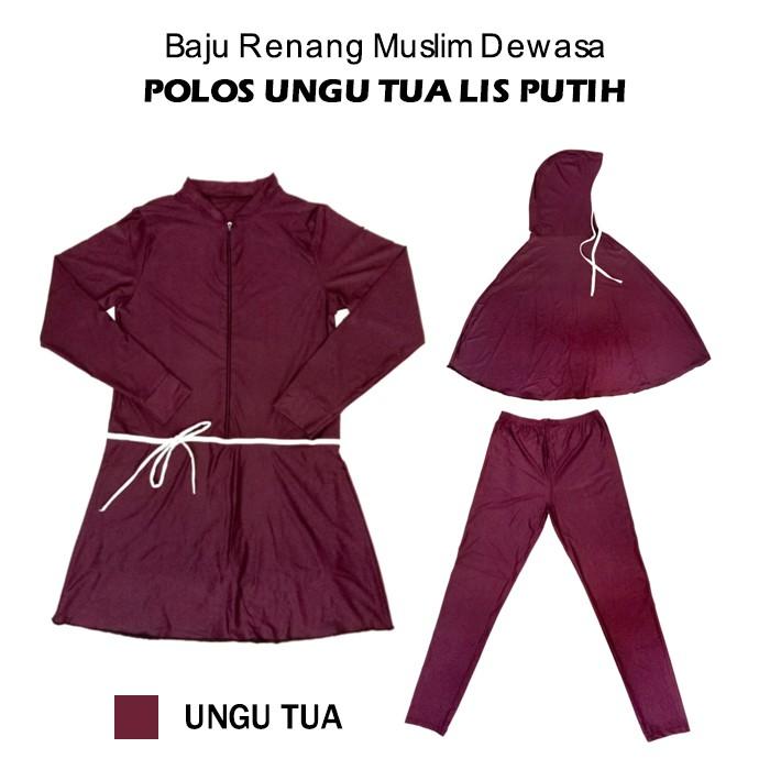 Baju Renang Muslim Murah Dasar Dongker Motif Nanas 165 | Shopee Indonesia