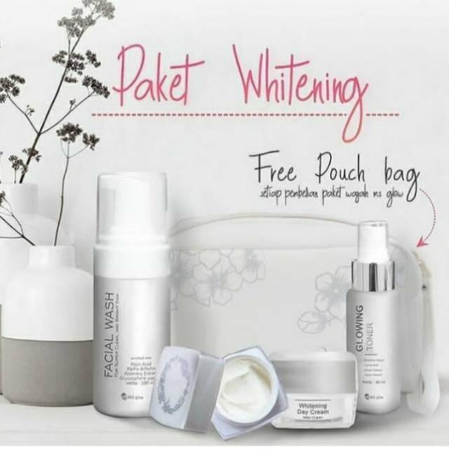 Paket Wajah Whitening Brightening Glow Ms Glow By Cantik Skincare Shopee Indonesia