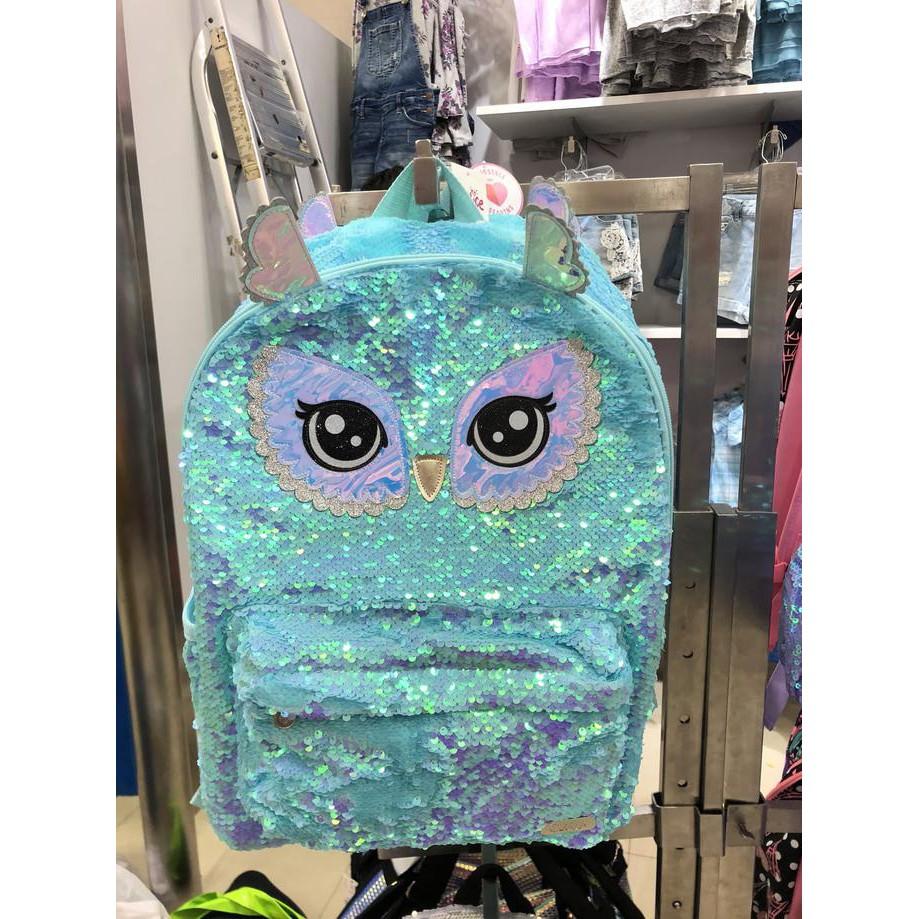 Tas Justice Original Owl Flip Sequin Backpack Shopee Indonesia Celana Dalam Sorex Love Heart 88553 6 Pcs