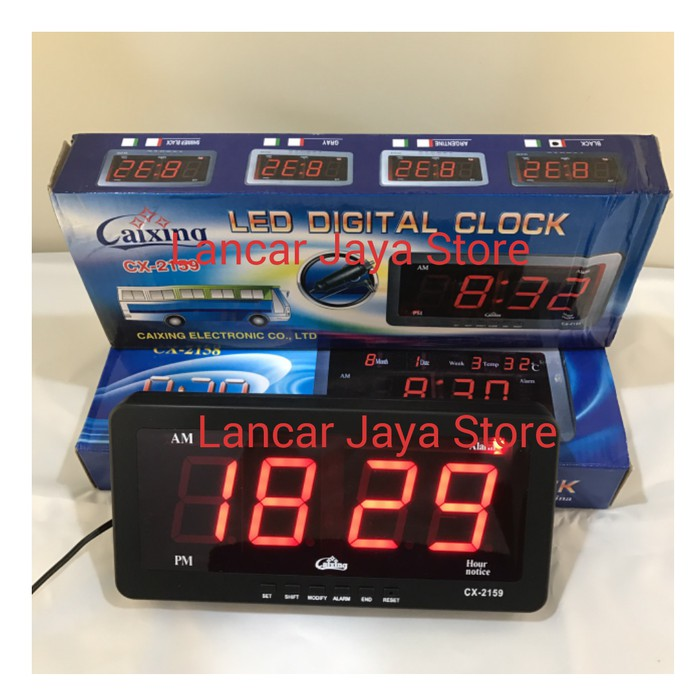 (^_^) Jam Dinding Digital Caixing CX-2159 (RED) Produk