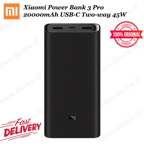 Xiaomi Power Bank 3 Pro 20000mAh USB-C Two-way 45W QC3.0