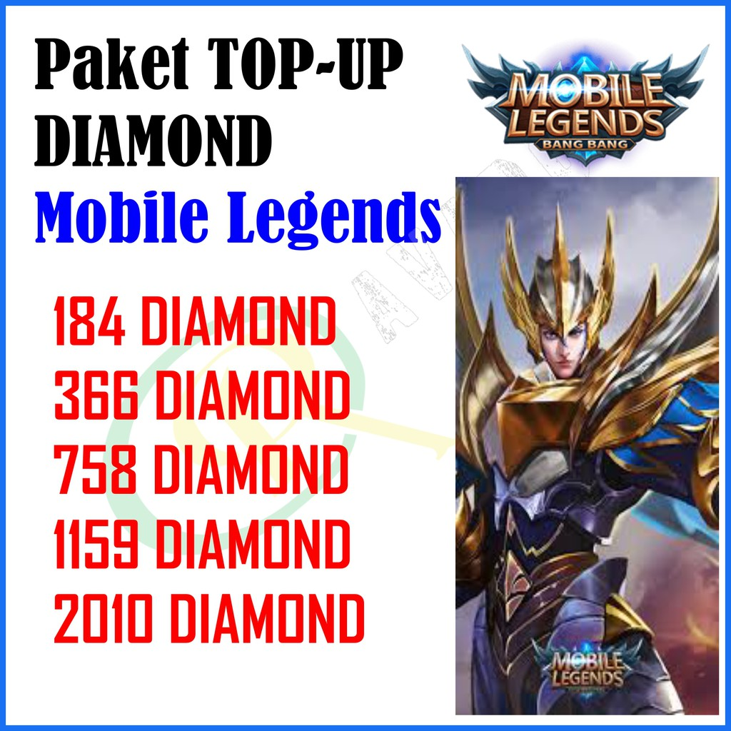 TOP UP GAME DIAMOND STARLIGHT MOBILE LEGENDS 17 33 36 50 74 83 184 366 758 1159 2010 | Shopee Indonesia