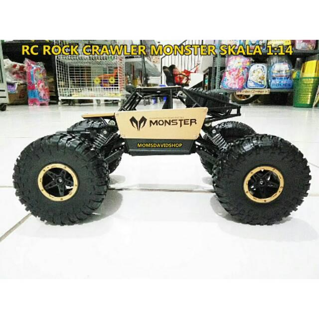 RC Rock Crawler Alloy Version Monster ,skala 1:14 ,freq 2 4Ghz ,4WD  ,Baterai Cas