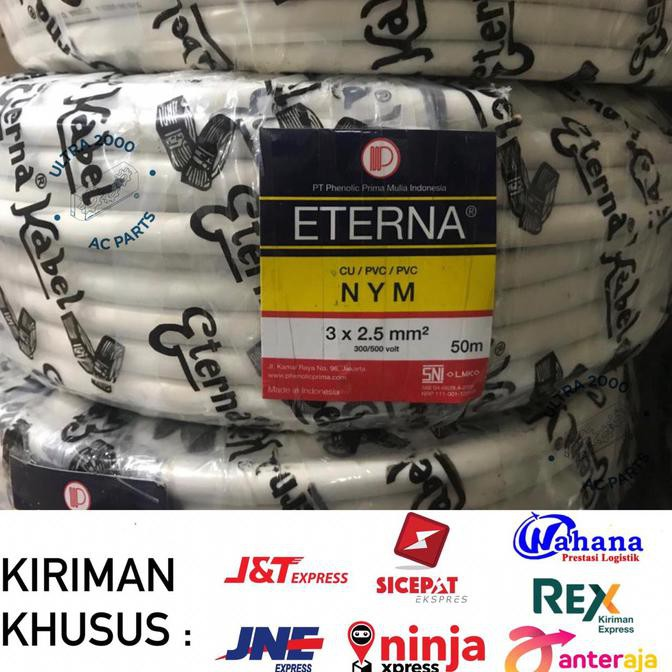 JUAL Kabel NYM ETERNA 3 x 2,5 50M/ETERNA CABLE 3x2.5/NYM ETERNA 3x2.5