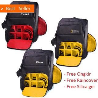 COD & gratis ongkir - Tas Kamera DSLR Mirrorless Ransel canon Nikon natgeo Gratis RainCover Kode G J   Shopee Indonesia