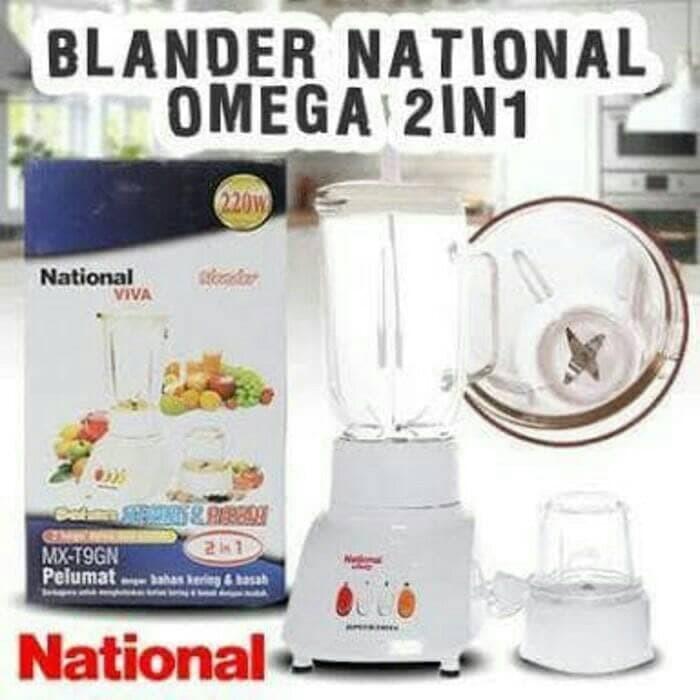BLENDER NATIONAL viva KACA 2IN1 MX-T11GN - Putih