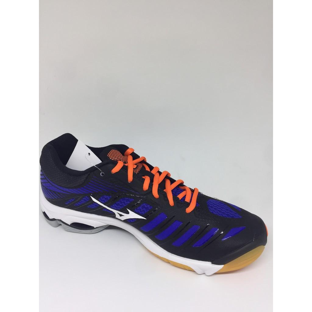 Sepatu volley mizuno original Wave Lightning Z4 black white blue new ... 8d6d07753b