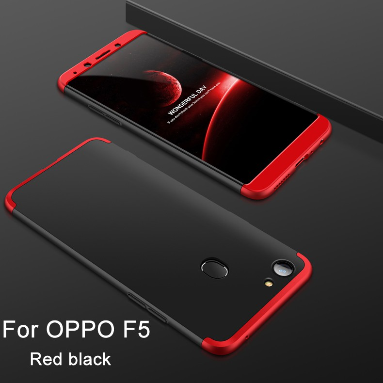 new product 8b01d 70226 For OPPO F5 3 in 1 Combo 360° Full Protection Ultra Slim PC Phone Case Cover