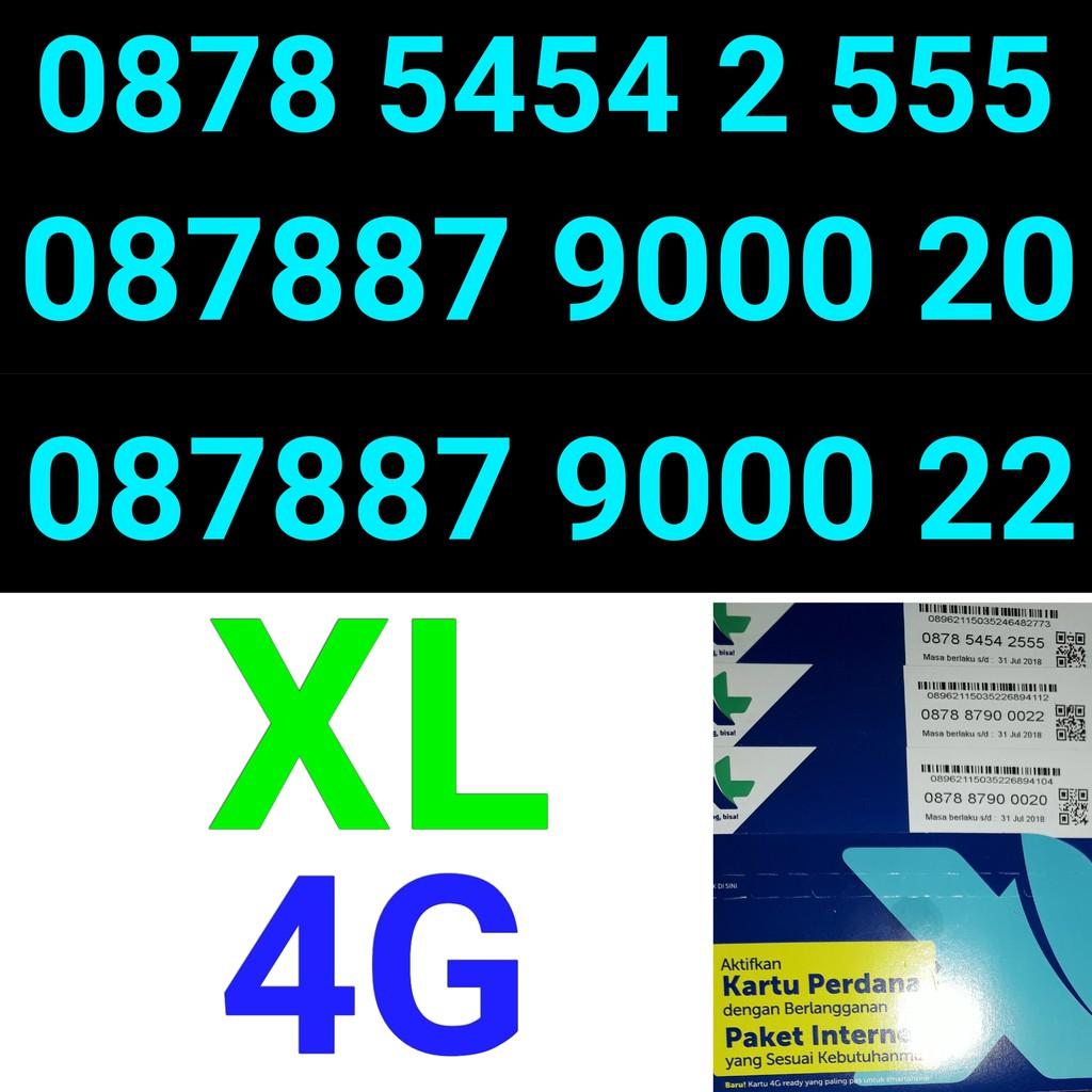 Kartu perdana XL 4G ser tahun lahir Bulan lahir nomer nomor cantik XL 4G   Shopee