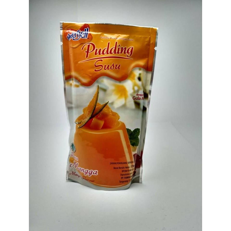 Nutrijell Pudding Susu Mangga 170gr Shopee Indonesia Pondan Puding Flan Vanila Pouch