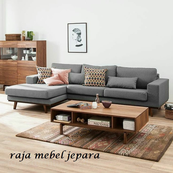 Set Sofa Ruang Tamu Minimalis Modern Mebel Jepara Shopee Indonesia