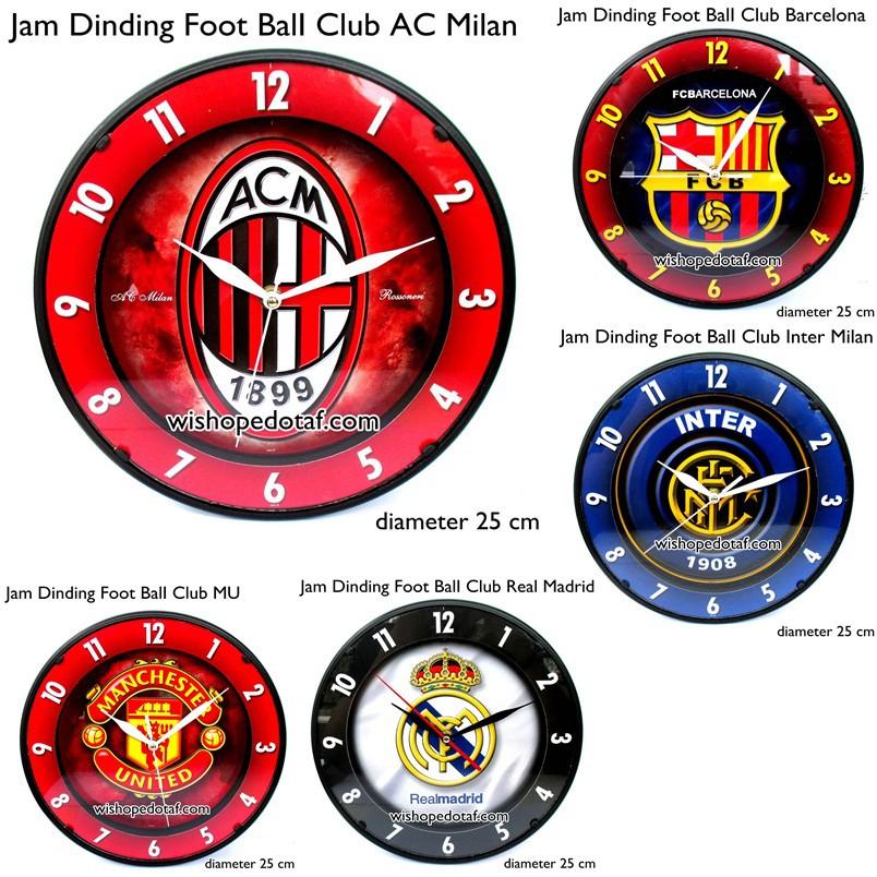Jam dinding dan jam meja club bola 19 cm - AC MILAN  791c8296eb