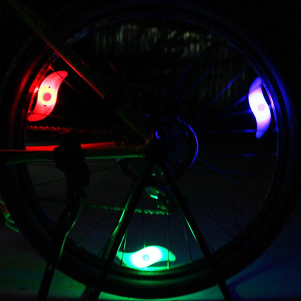 1pc Bicycle cycling Tire valve light Car motor wheel Bike LED light bulb Lamp