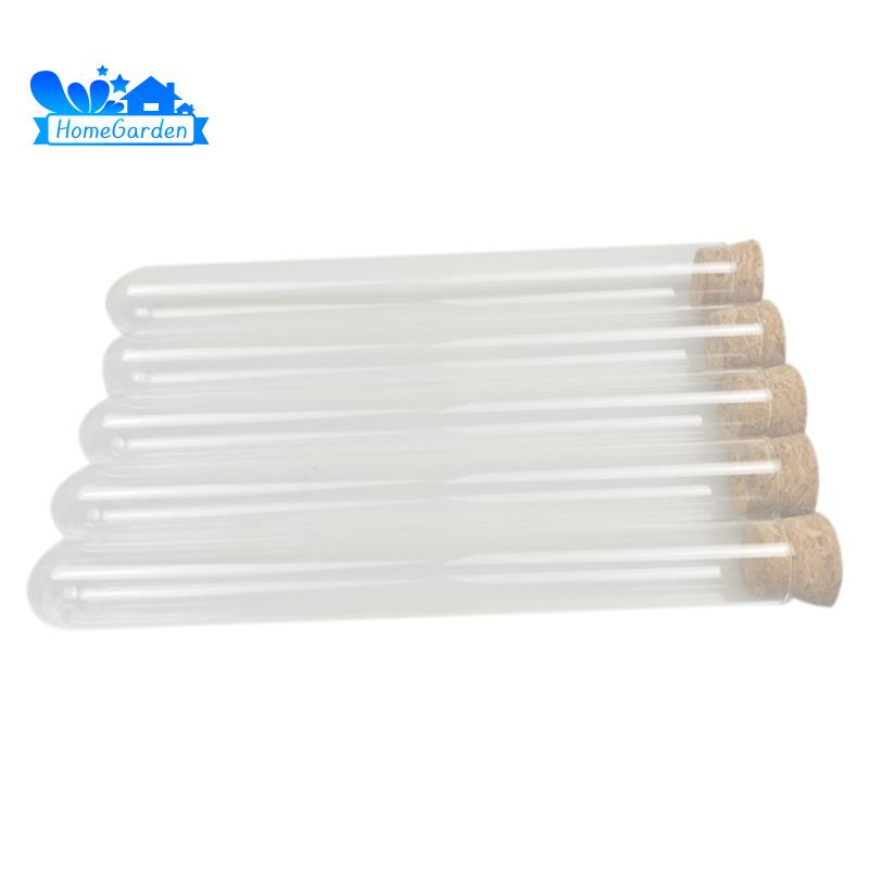 50Pcs 20X150Mm 30Ml Plastic Test Tube With Cork ,Clear Wedding Favor Gift Tube Package Tube