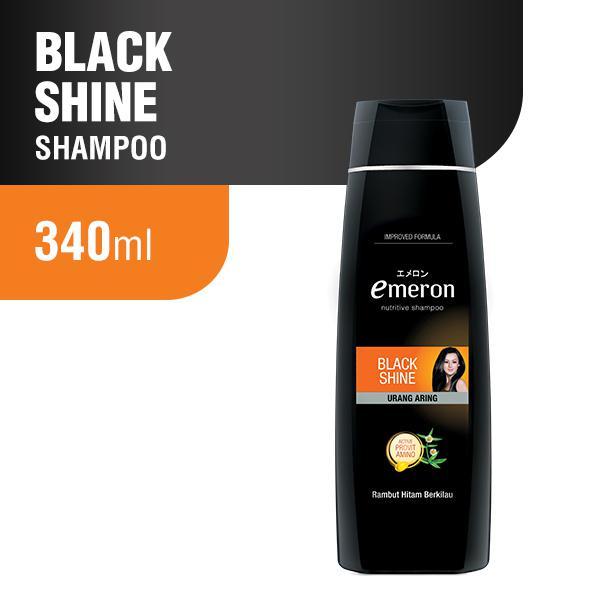 Emeron Shampoo Black Shine Botol 340ml-1
