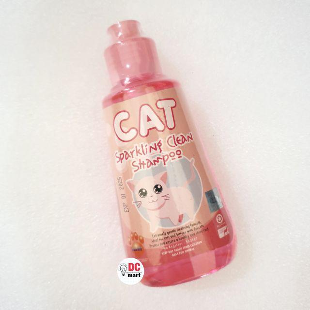 SPARKLING CLEAN CAT Shampo Hewan 150mL / Shampoo anjing kucing musang kelinci RAID ALL-Sparkling Pink