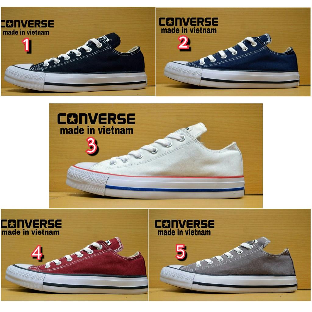 Sepatu Converse Allstar Classic Vietnam Black White Sneakers Sekolah Kerja  Traning Pria Wanita  a0bd8180f6