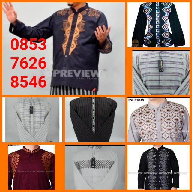 baju koko panjang karya itang yunaz pria muslim