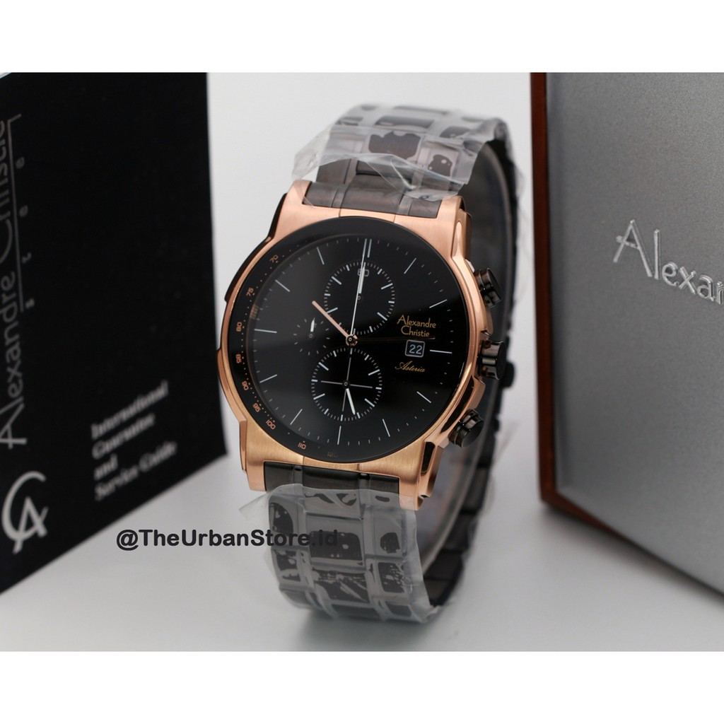 Bk9031 Jam Alexandre Christie Original 8495 Rgb Shopee Indonesia Ac Black Gold