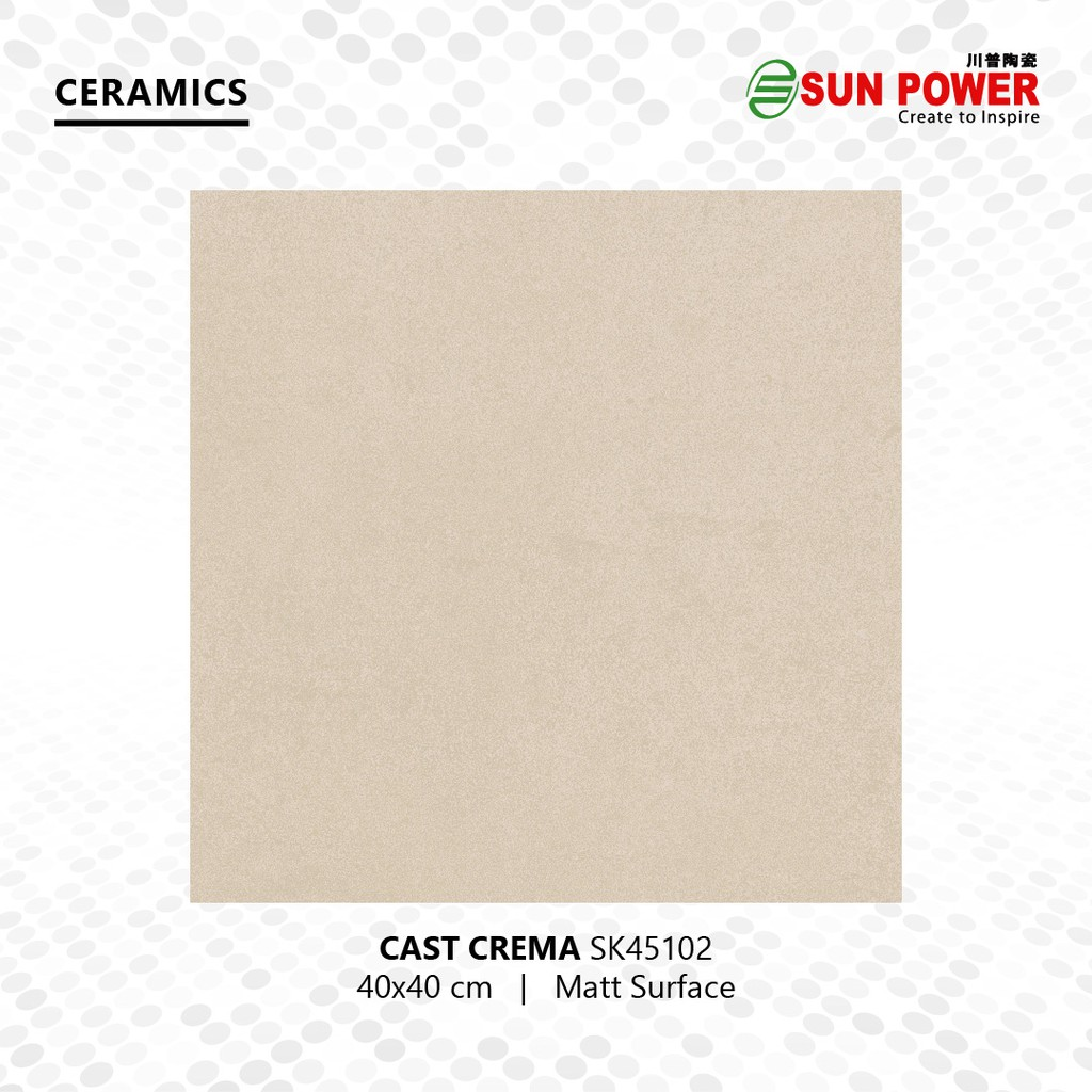 Keramik Lantai Motif Semen 40x40 Permukaan Matt - Cast Crema