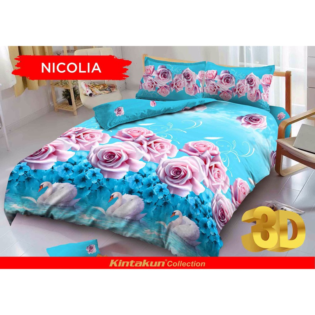 Kintakun Sprei Dluxe 120 X 200 Single Nicolia Shopee Indonesia 120x200 Azaki