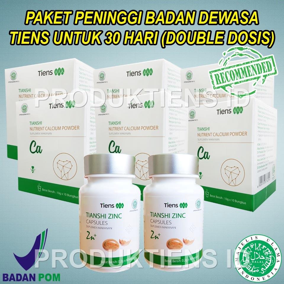 Tiens Peninggi Badan Dewasa 10 Hari Kalsium Zinc Tianshi Herbal Alami Meninggikan Badan | Shopee Indonesia