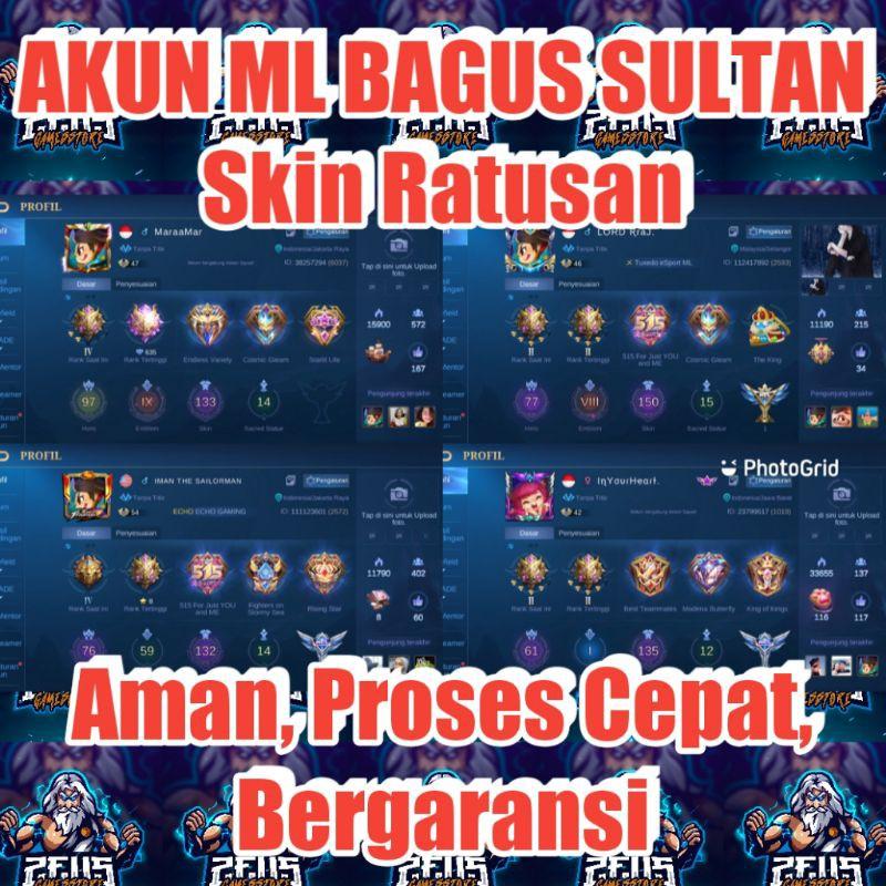 Akun Mobile Legend Sultan Bergaransi | Ml | Mlbb | Legends | Sultan