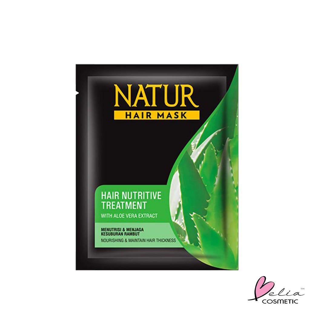 ❤ BELIA ❤ NATUR Hair Mask   Hair Vitamin   2 in 1 Shampoo & Hair Tonic(✔️BPOM)-N.HMask-Aloe HIJAU