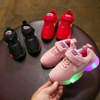 Sepatu Anak LED 26-30 England Sneakers