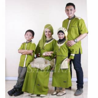 B02 | Seragam keluarga sarimbit couple muslim baju gamis koko ayah ibu anak baru