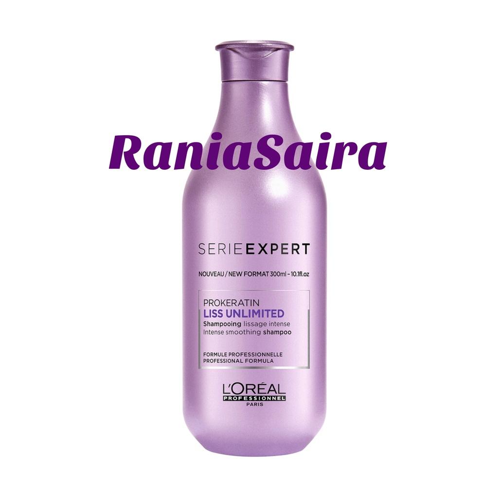 LOREAL Serie Expert ProKeratin Liss Unlimited Shampoo 300ml / Shampo / Rambut Sulit Diatur/Keriting