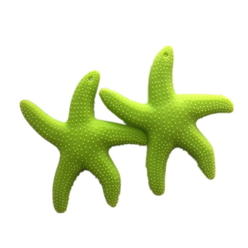 Baby Food Silicone Starfish Teeth Grade Safe Rubber Sensory Teether Activity Toy