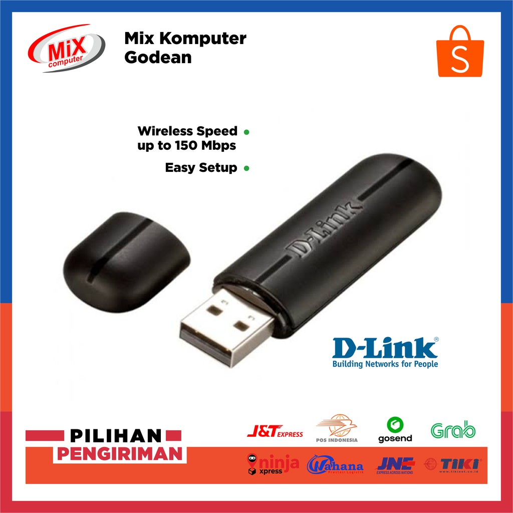 Usb Wifi Adapter D Link Dwa 123 Shopee Indonesia