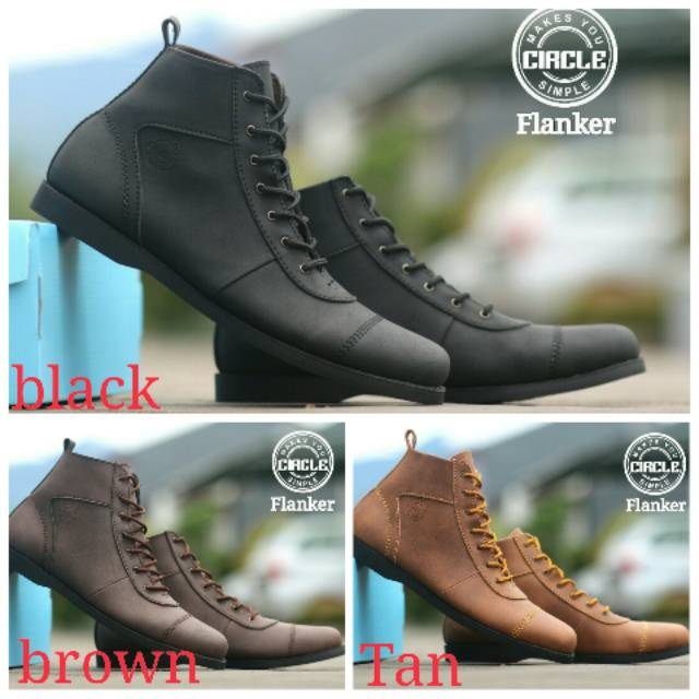 Sepatu Boots Pria Circle Flanker Original Handmade  7e9ce6fe05