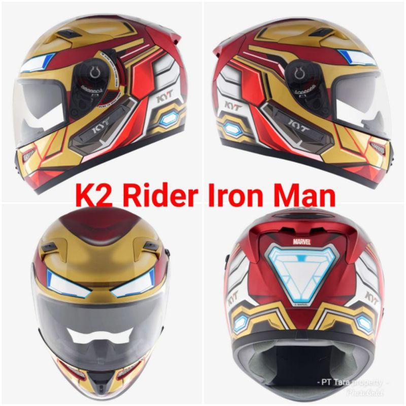 HELM KYT K2 RIDER IRON MAN