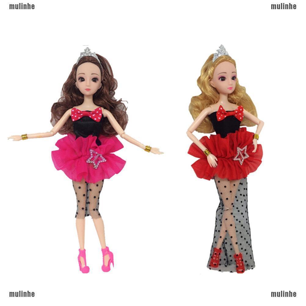 Mlmy Dress Pesta Handmade Desain Poker Ratu Setan Untuk Aksesoris Boneka Barbie Shopee Indonesia