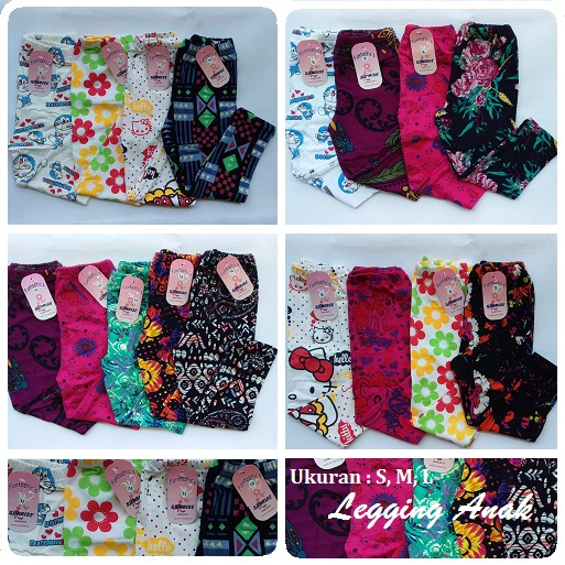 Legging Anak Motif Celana Legging Katun Warna Warni Shopee Indonesia
