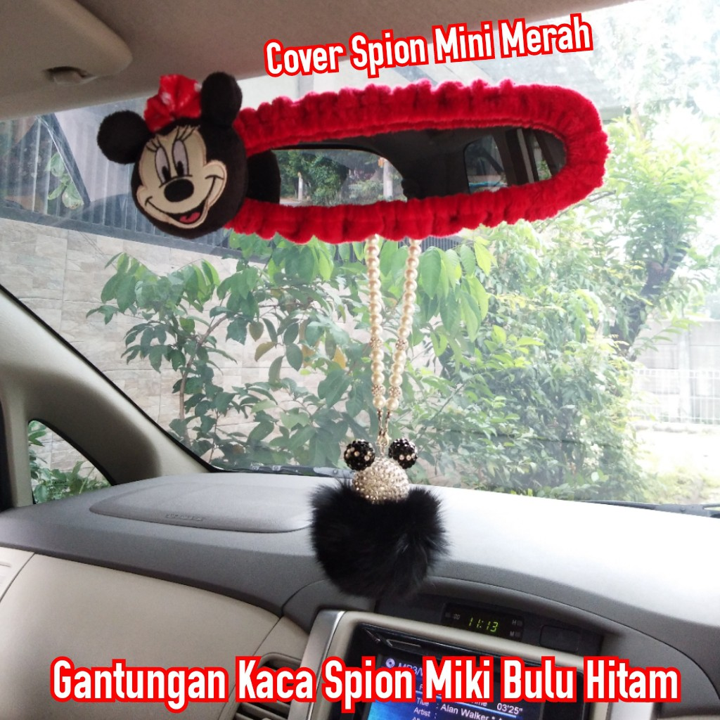 Gantungan Mobil Spion Tengah MotiF Hello Kitty Bulu merah | Shopee Indonesia