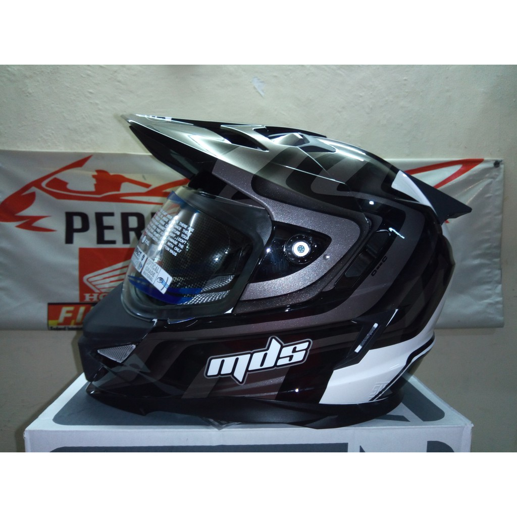 Helm Full Face Mds Supermoto Super Pro Adventure One Moto Motif