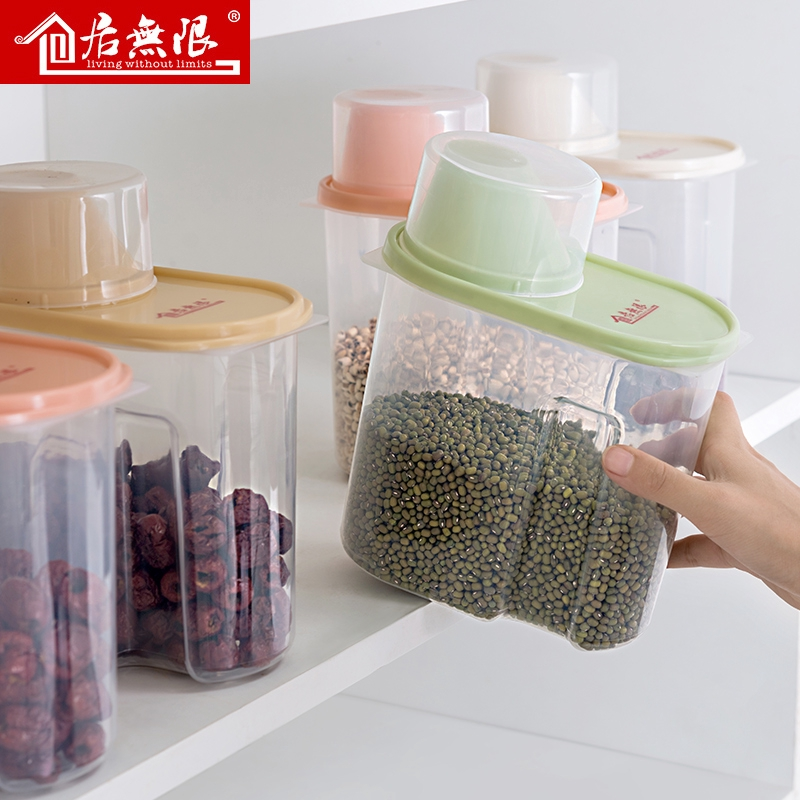 Ready Stock Kitchen Storage Box Cereals Sealed Canned Rice