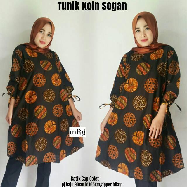 Baju Muslim Tunik Batik Wanita Hijab Untuk Kerja Kantor Busana Muslim Tunik Kerja Elegan Terbaru