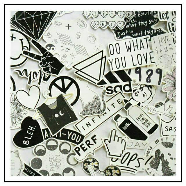 Stiker Tumblr Hitam Putih Black And White Shopee Indonesia