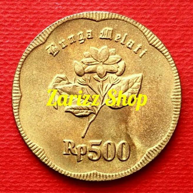Koin 500 Rupiah Melati Besar Tahun 1991