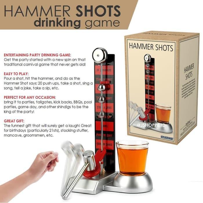 Mainan Hammer Shot Drinking Challenge