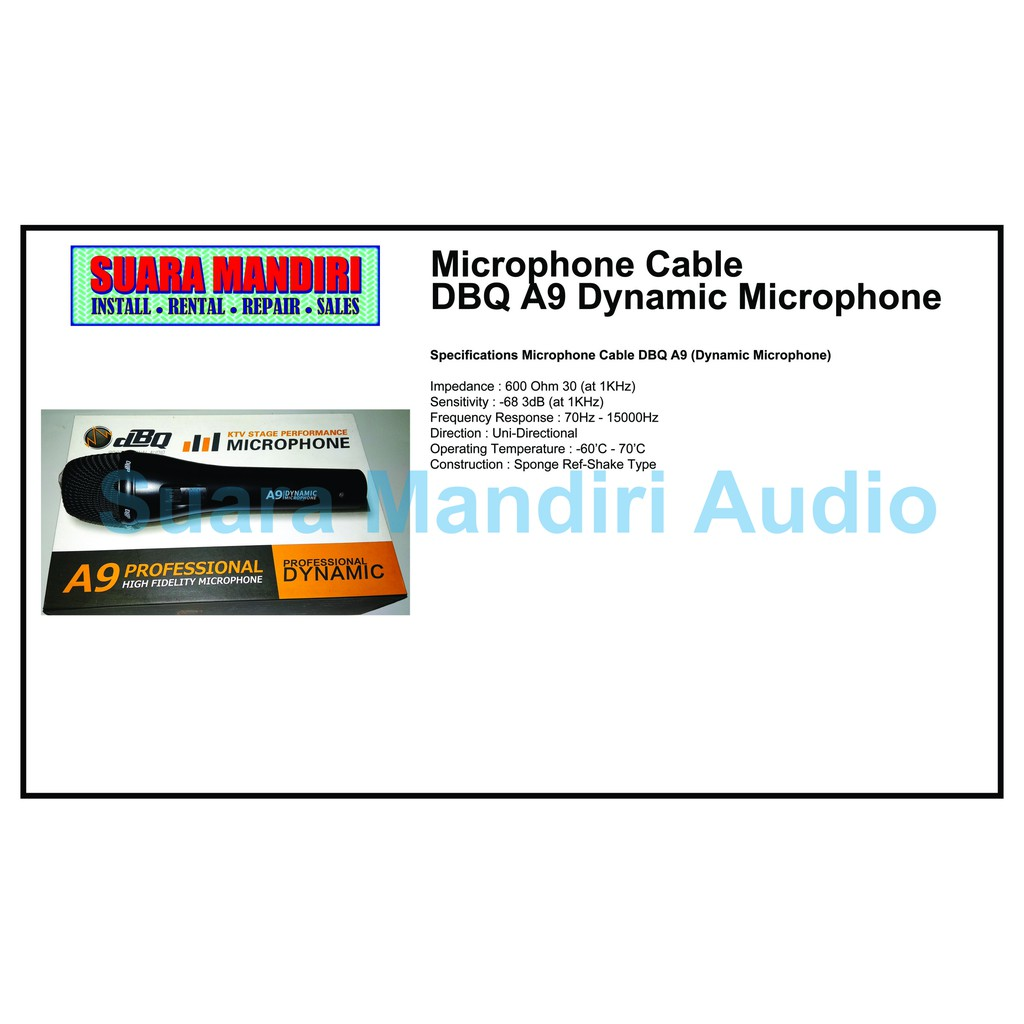 Microphone Cable DBQ A9