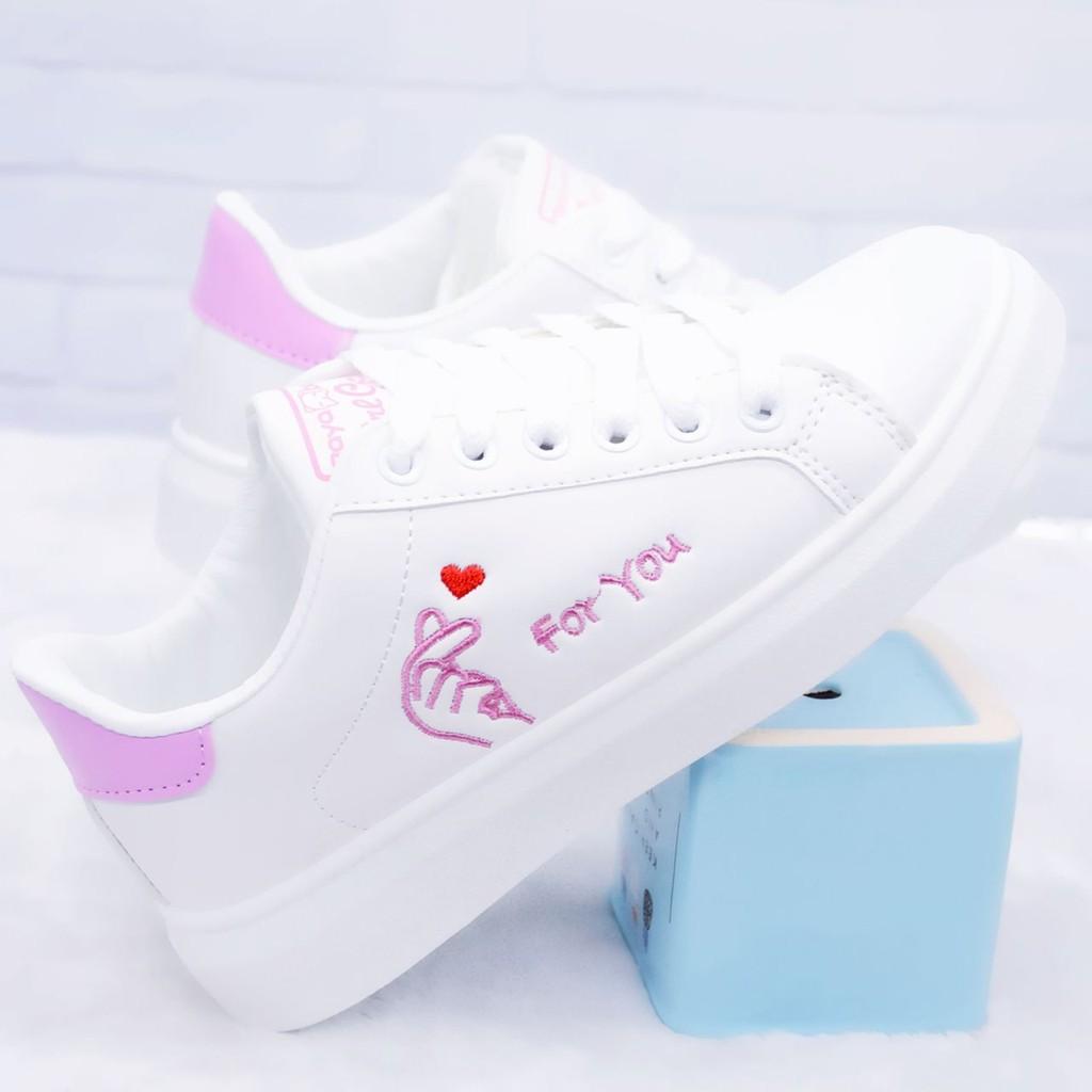 Sepatu Flat Casual Anak Perempuan Usia 7 12 Tahun Warna Putih