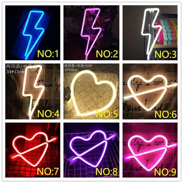Neon Wall Light Petir Led Neon Sign Usb Neon Surat Lights Untuk Room Home Party Wedding Decoration N Shopee Indonesia